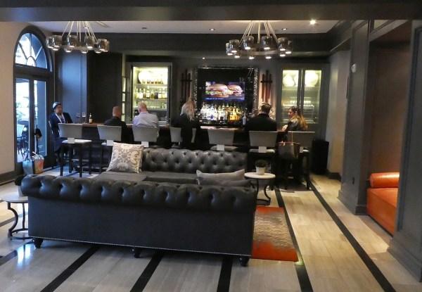 Hotel bar in the lobby