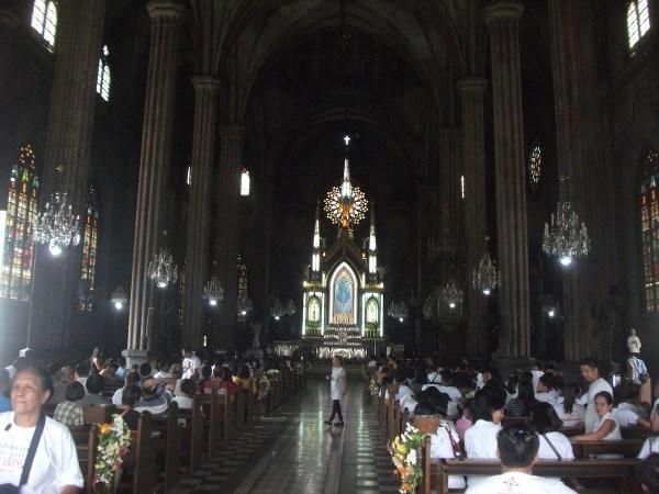 mass inside the San Sebastian Minor Basilica