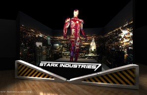A 5-metre tall Iron Man that will be featured in the Marvel Studios: Ten Years of Heroes exhibition in Singapore at ArtScience Museum, © MARVEL