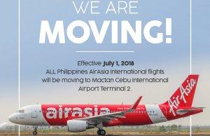 AirAsia moves international flights to new terminal 2 in Mactan Cebu International Airport effective July 1