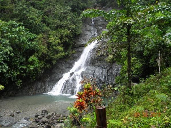 Busay Falls in Babatgon Leyte photo via FB Page Tacloban City Travel Guide