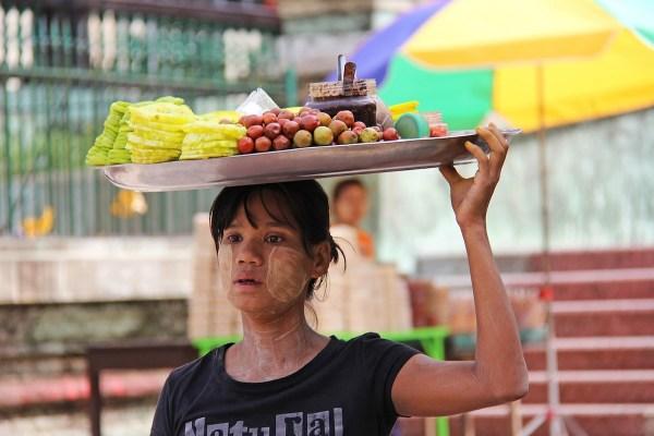 Fruit Vendor in Yangon