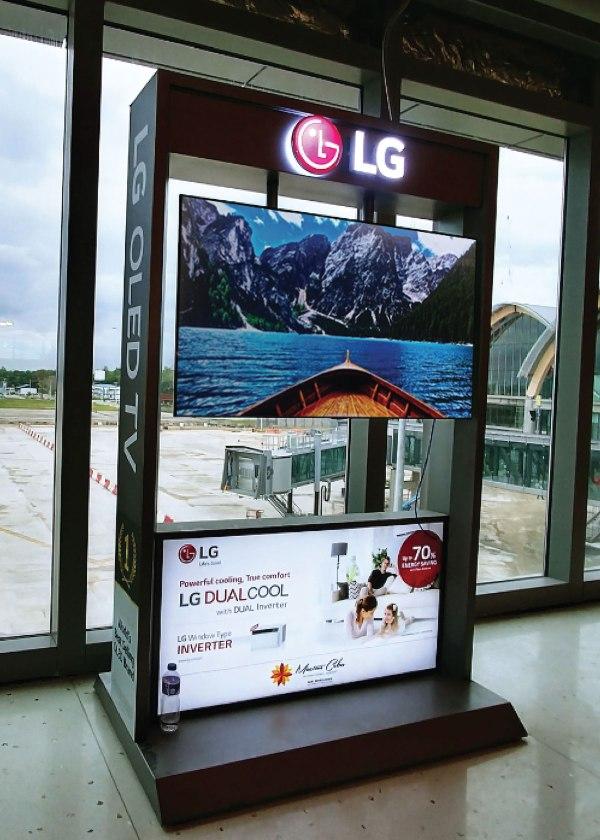 OLED TV in Cebu Mactan Airport