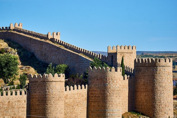 The Walls of Avila in central Spain