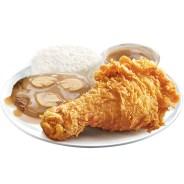 1 pc Jollibee Chickenjoy with Burgersteak and Rice