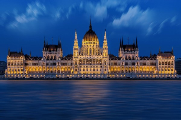 Hungarian Parliament Building in Budaphest, Hungary