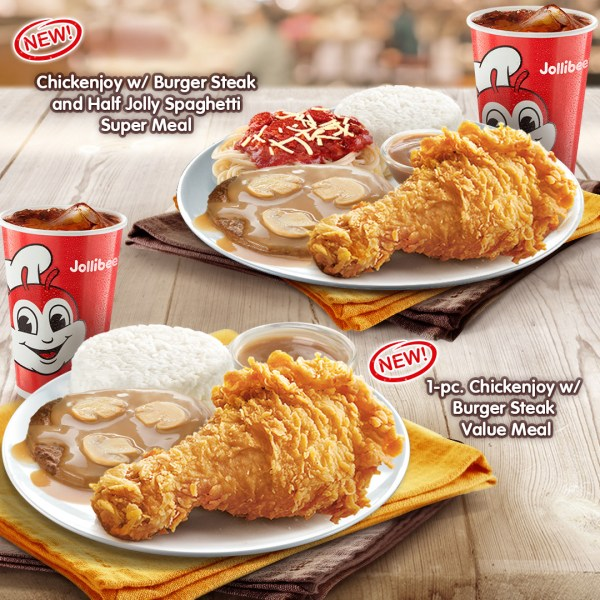 Introducing Jollibee Chickenjoy With Burger Steak Value Meal Out