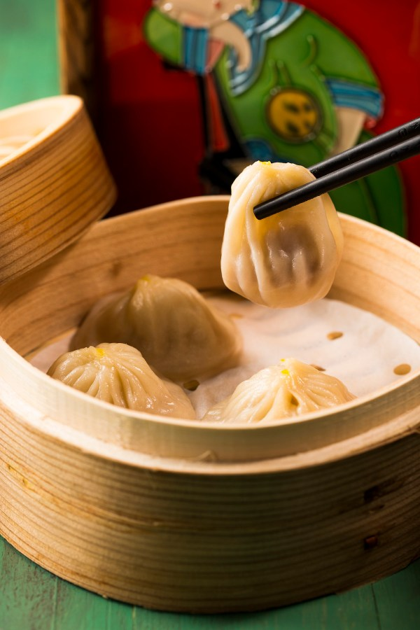 Minced Pork Dumplings with Green Chilli and Sichuan Peppercorn Soup