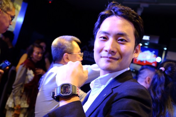 Mr. Masaki Obu wearing the Pambansang G-shock