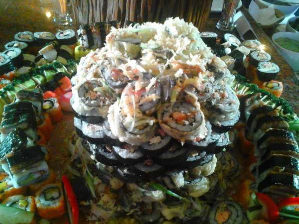 The towering rice rolls of The Forest Lodge