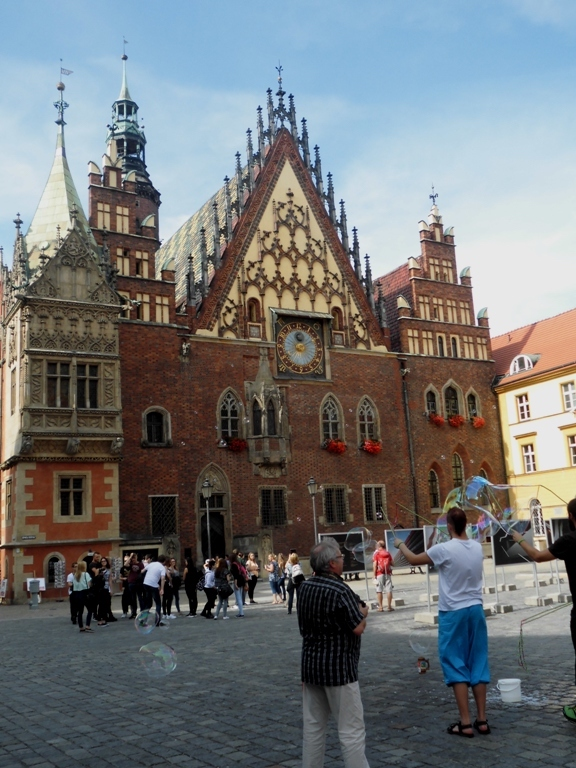 Wroclaw Town Hall and Market place