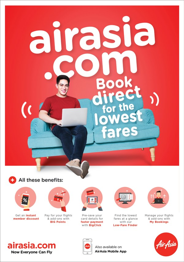 AirAsia Gives Instant Discounts to its Loyal Customers Starting August 1, 2018