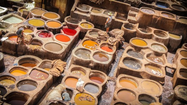 The Leather Tanneries of Fez, Morocco by Vince Gx via Unsplash