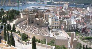 The Roman Theatre of Carthago Nova and Cathedral ruins of Cartagena photo by Trasamundo via Wikipedia CC