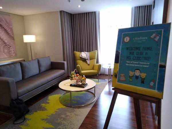 The foyer of Citadine Millenium Ortigas 1-Bedroom Executive room