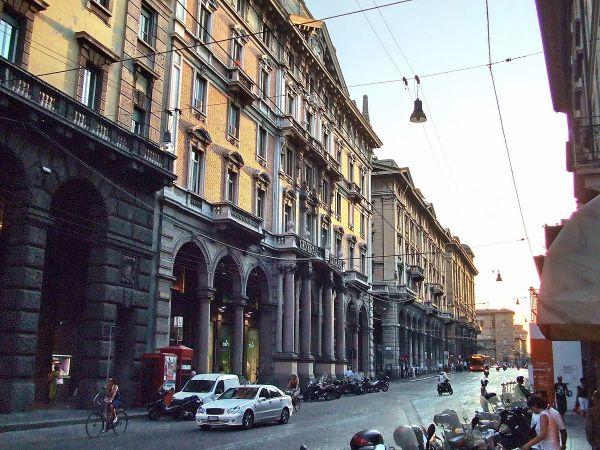 Ancient Roman Road in Bologna by Onanymous via Wikipedia CC