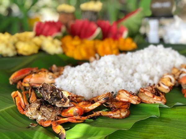 Boodle Fight Lunch at Pinaghulugan Beach