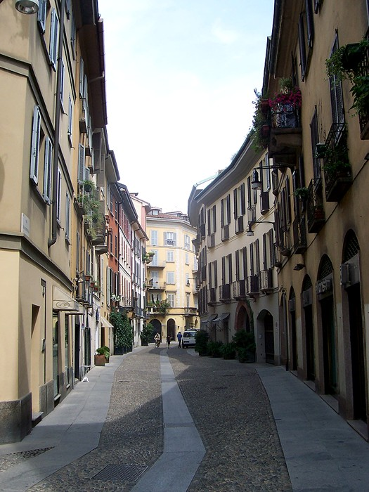 Brera District Milan by MarkusMark via Wikipedia CC