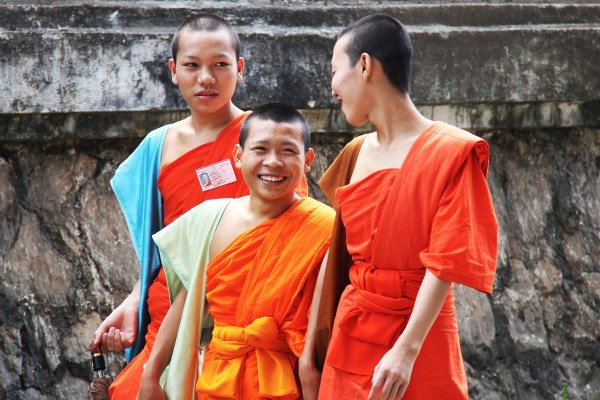 Chat with a monk in Luang Prabang