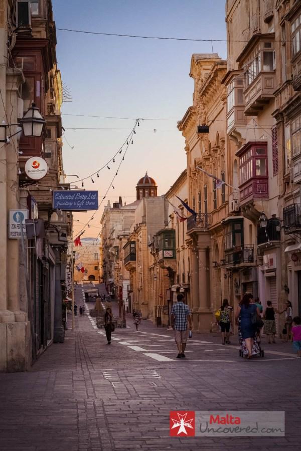 Malta Main Shopping Street Valletta