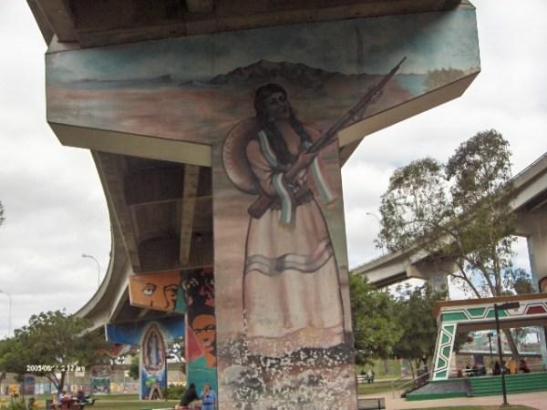 Murals in Chicano Park Barrio Logan photo vy Smedpull via Wikipedia CC