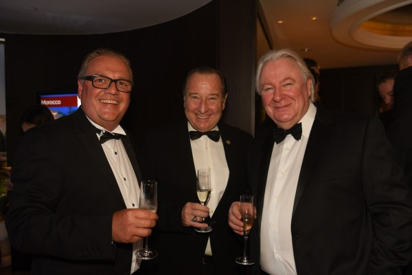 World Travel Awards Vice President Christ Frost, Marco Polo Ortigas Manila General Manager Frank Reichenbach, World Travel Awards Founder and President Graham Cooke
