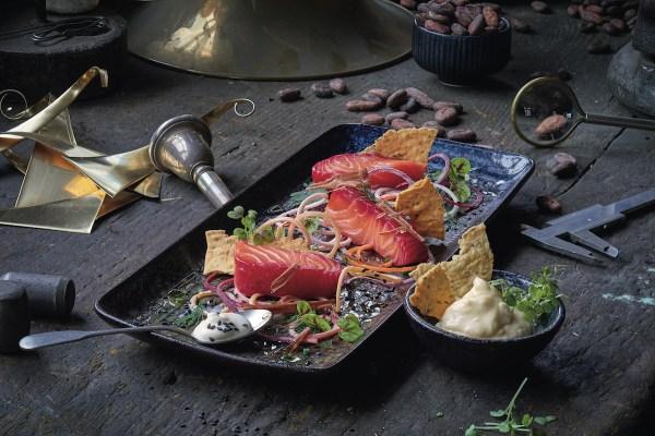 Beetroot Salmon - Savory Chocolate Dishes