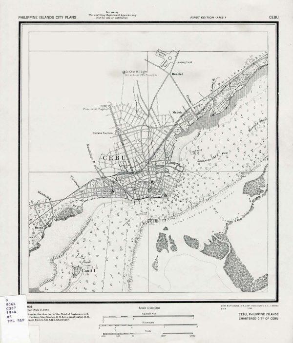 Cebu Map 1944