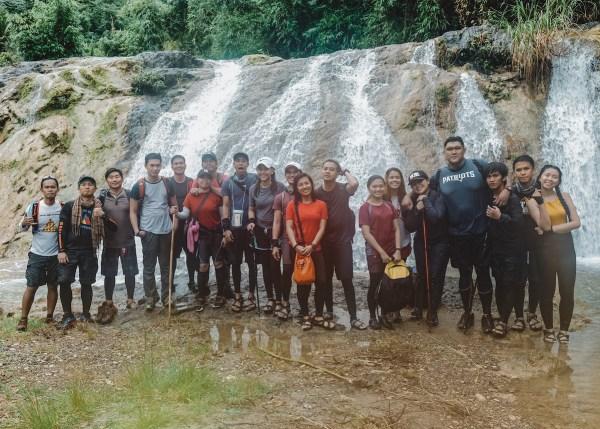 Group shot in Kalaparan falls