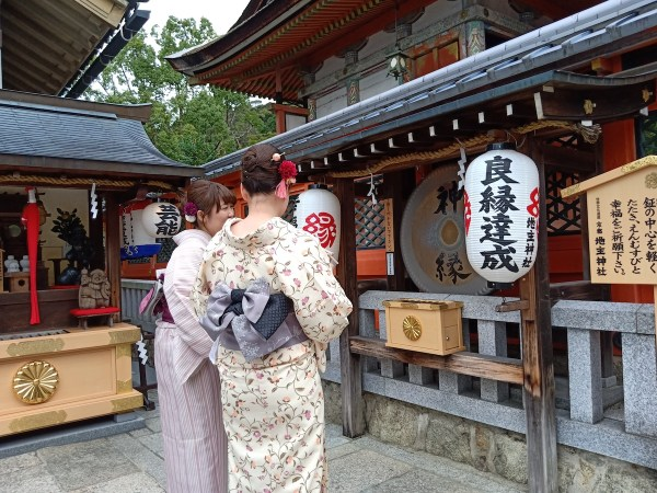 Local tourists wearing Kimono