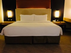 My huge bed at Hotel Jen MNL