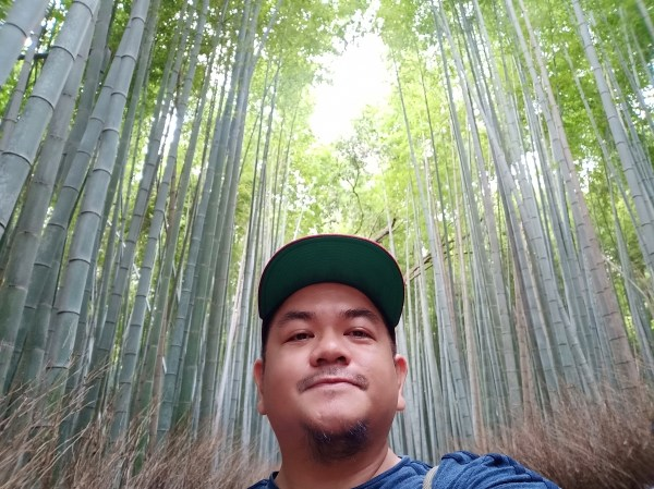 Selfie at Arashiyama Bamboo Forest
