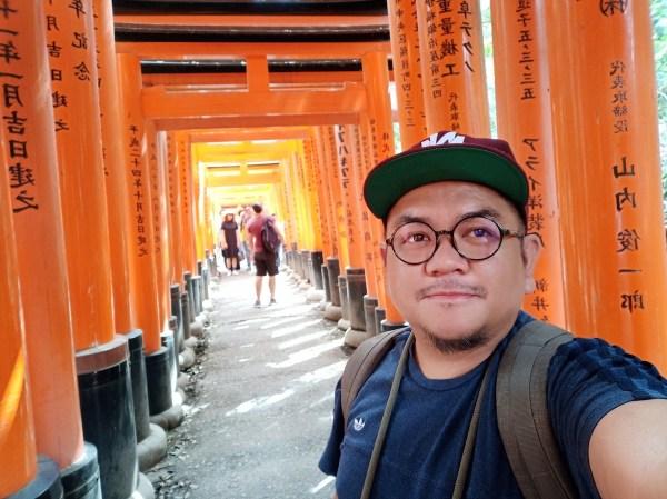Selfie at Fushimi Inari Torii Gates