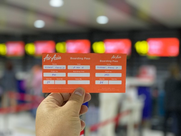 AirAsia Boarding Pass - Manila Terminal 4 to Panglao International Airport