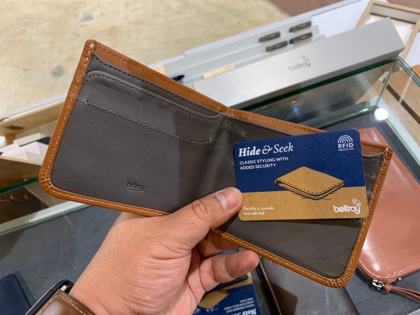Bellroy Hide and Seek Leather Slim Wallet with Hidden Pockets
