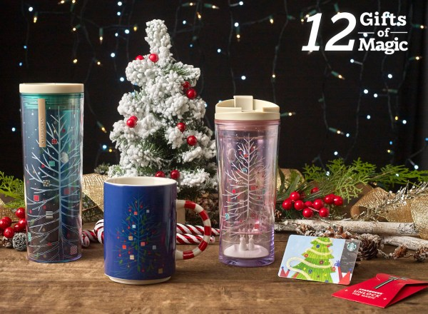 Holiday Tree Gift Set - Starbucks 12 Gifts of Magic