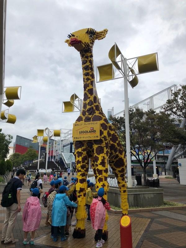 Lego Giraffe outside Osaka Aquarium