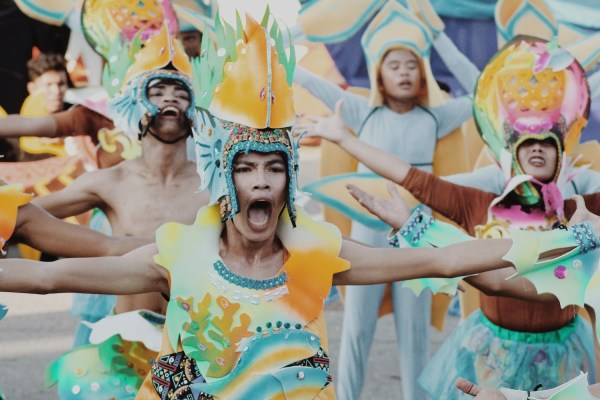 Oriental Mindoro, Occidental Mindoro, Romblon, Calapan, Palawan, and Puerto Princesa performing at the Grand Street Parade at #MIMAROPAFestival year 4 #TeamOutOfTown