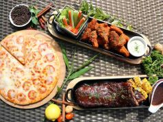 Pizza ribs and wings at Hotel Jen Manila
