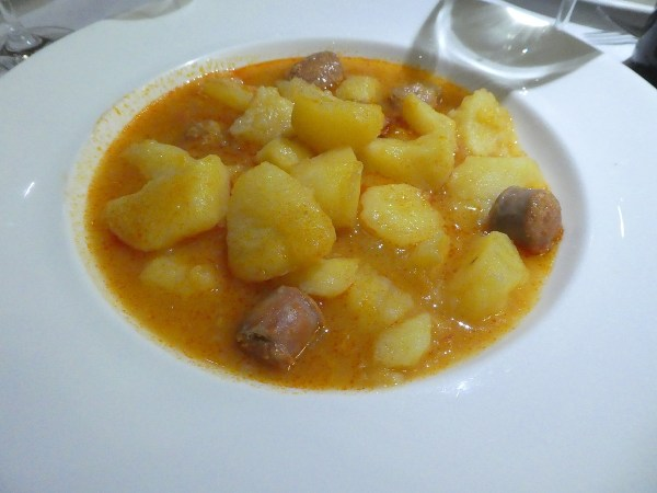 Rioja potato stew with sausages