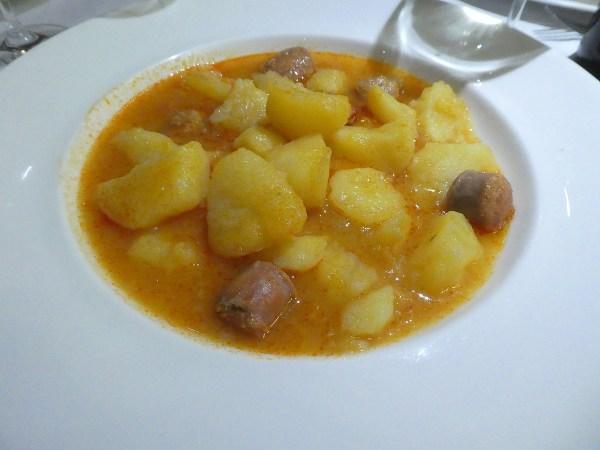Rioja potato stew with sausages