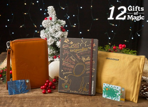 Starbucks Planner and Travel Organizer (Espresso and Sienna) Christmas Gift Set