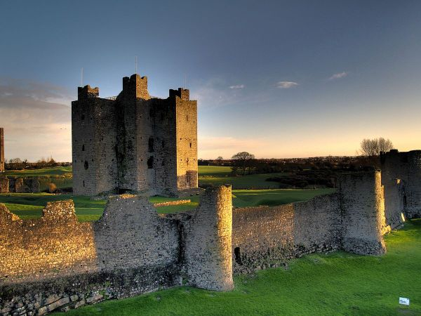 Trim Castle photo by Andrew Parnell via Wikipedia CC