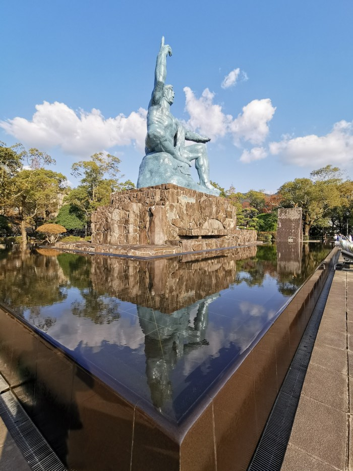10-meter-tall Peace Statue created by sculptor Seibo Kitamura of Nagasaki Prefecture