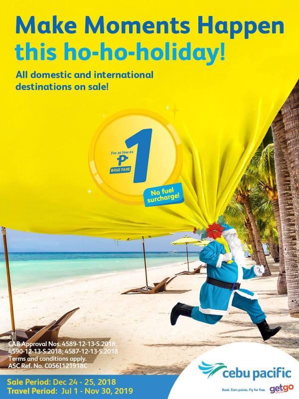 Cebu Pacific Christmas Piso Fare Sale