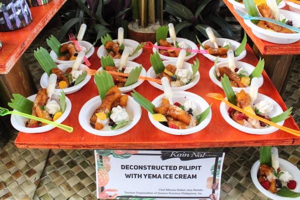 Deconstructed Pilipit with Yema Ice Cream
