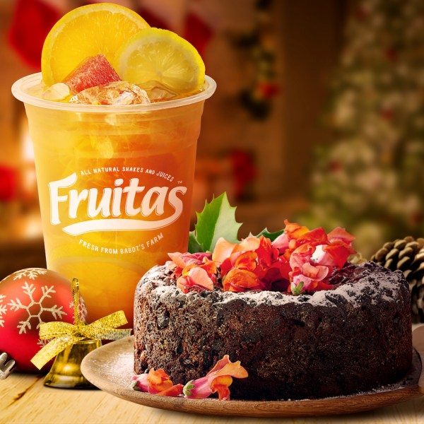 Christmas will be twice as fruitful with the Fruitas Zesty Watermelon and fruitcake combination