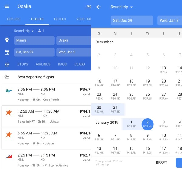 Google Flights -- Easily filter, compare and search for the best flights