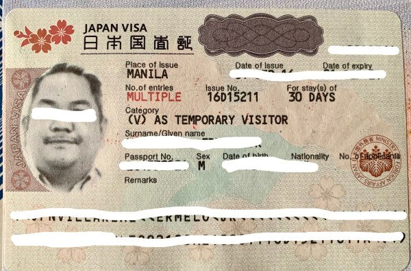 Japan Multiple-entry visa application