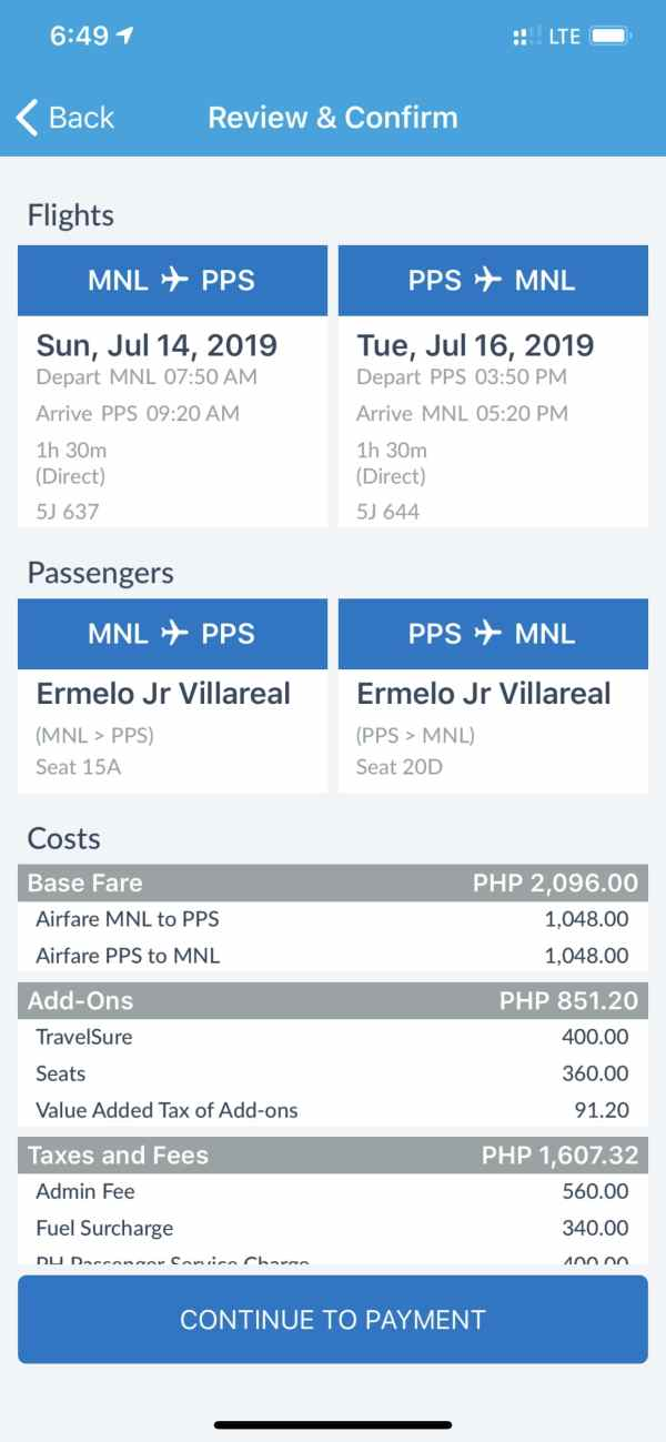 Review your bookings - Alternative Ways in Paying for Cebu Pacific Tickets Booked Online